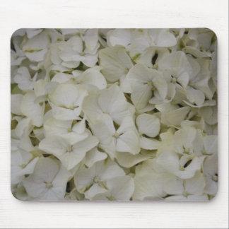 White Hydrangea Mouse Pad