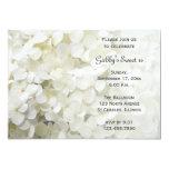 White Hydrangea Sweet 16 Birthday Party Invitation