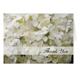 White Hydrangea Thank You Card