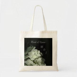 White Hydrangea Wedding Favor Tote Budget Tote Bag