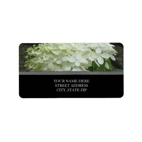 White Hydrangeas Address Labels