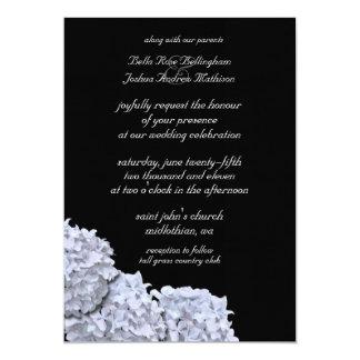 White Hydrangeas Wedding Invitation