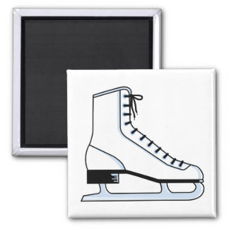 white ice skate vector graphic square magnet
