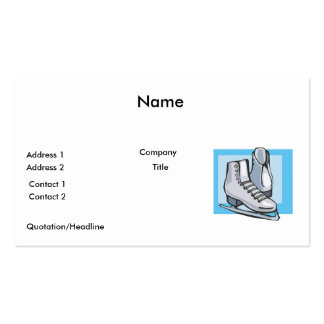 white ice skates graphic business card templates