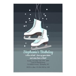 White Ice Skates Invitation