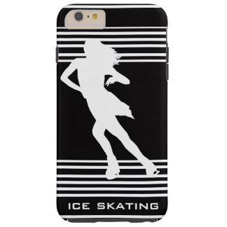 White Ice Skating Design iPhone 6 Case