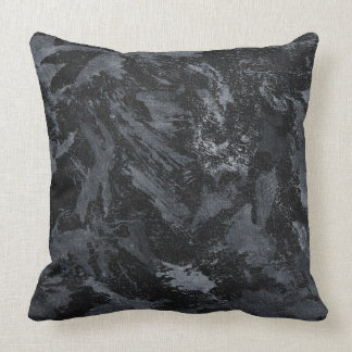 White Ink on Black #2 Cushion
