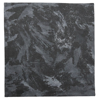 White Ink on Black #2 Napkin