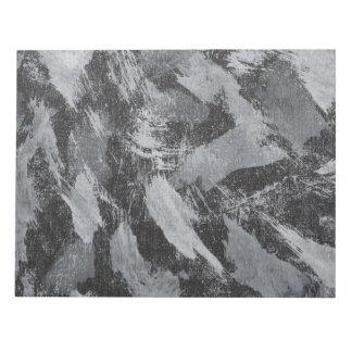 White Ink on Black Background #3 Notepad