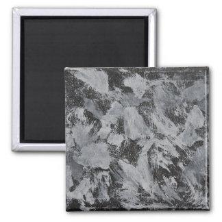 White Ink on Black Background #5 Magnet