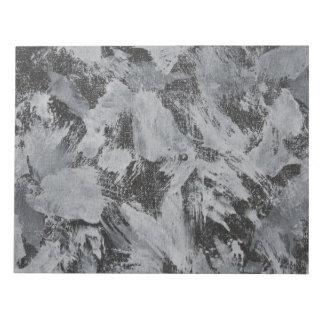 White Ink on Black Background #5 Notepad