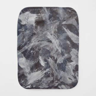 White Ink on Brown and Blue Background Burp Cloth