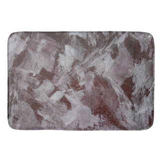 White Ink on Red Background Bath Mat