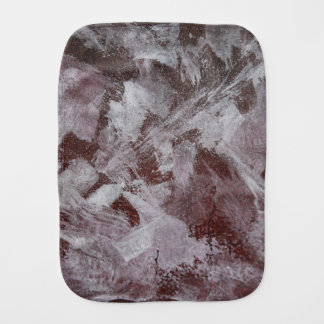 White Ink on Red Background Burp Cloth