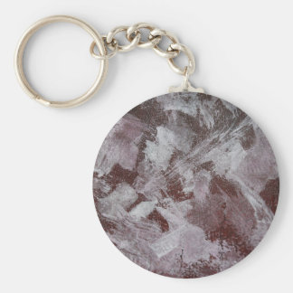 White Ink on Red Background Key Ring