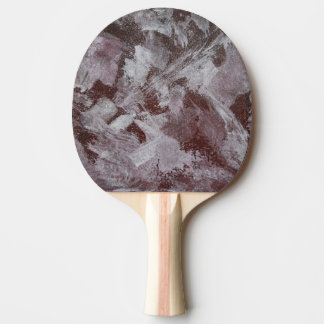White Ink on Red Background Ping Pong Paddle