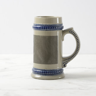 White Ink on Silver Background Beer Stein
