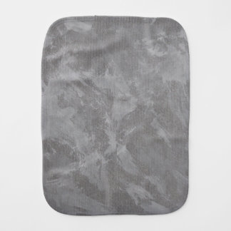 White Ink on Silver Background Burp Cloth