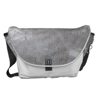 White Ink on Silver Background Courier Bag
