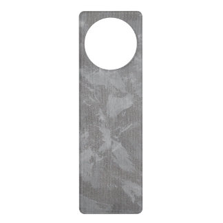 White Ink on Silver Background Door Hanger