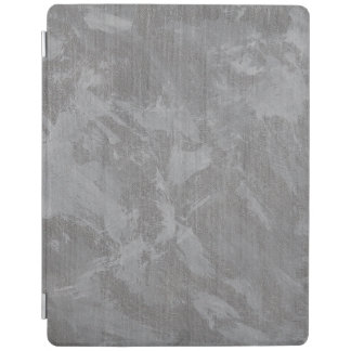 White Ink on Silver Background iPad Cover