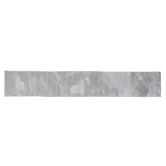 White Ink on Silver Background Long Table Runner