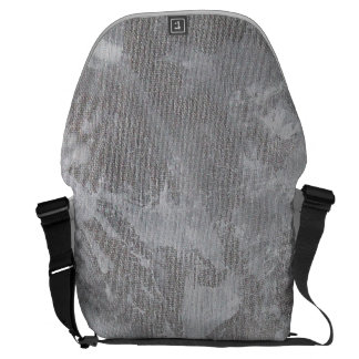 White Ink on Silver Background Messenger Bags