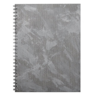 White Ink on Silver Background Notebook