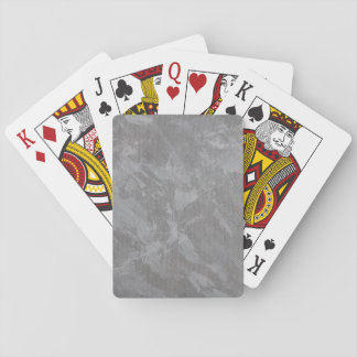 White Ink on Silver Background Playing Cards
