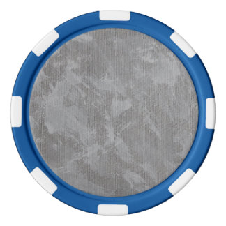 White Ink on Silver Background Poker Chips