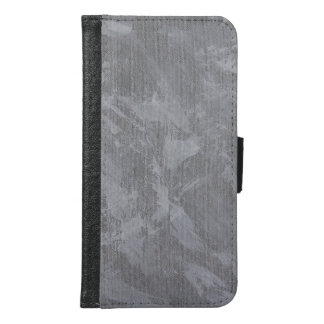 White Ink on Silver Background Samsung Galaxy S6 Wallet Case