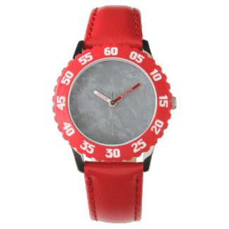 White Ink on Silver Background Watch