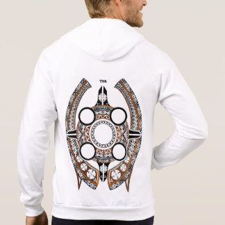 White Innovative Fijian Zipper Hoodie