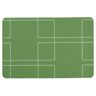 White Interlocking Rectangles Floor Mat