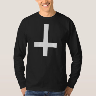 White Inverted Cross T-Shirt