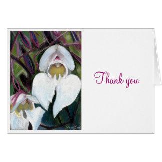 White iris, Thank you Note Card