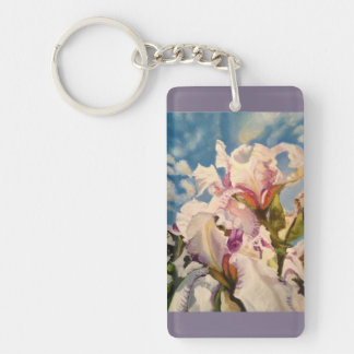 White Irises Key Chain