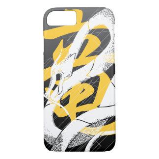 White Japanese Dragon Black Background iPhone 7 Case