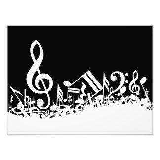 White Jumbled Musical Notes on Black Photo