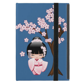 White Kimono Kokeshi Doll - Cute Geisha Girl iPad Mini Case