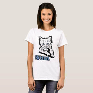 White Kitten Animal Print Garments Merchandises T-Shirt