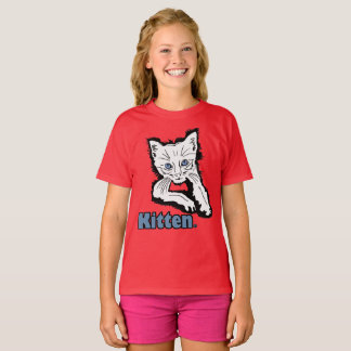 White Kitten Animal Print Kids Garment Merchandise T-Shirt
