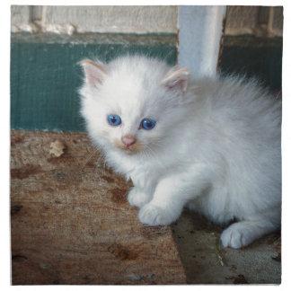 White Kitten Napkin