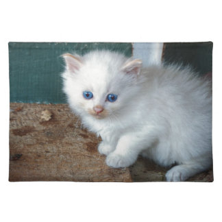 White Kitten Placemat
