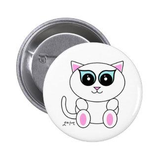 White Kitty Pins
