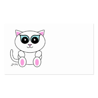 White Kitty Business Card Template