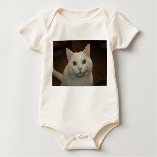 White Kitty Cat Baby Bodysuit
