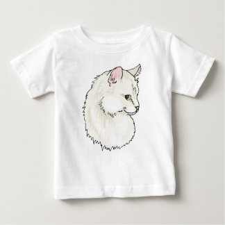 White Kitty Cat Face Baby T-Shirt