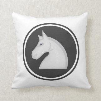White Knight Horse Chess Piece Cushion