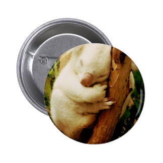 White Koala Bear Button